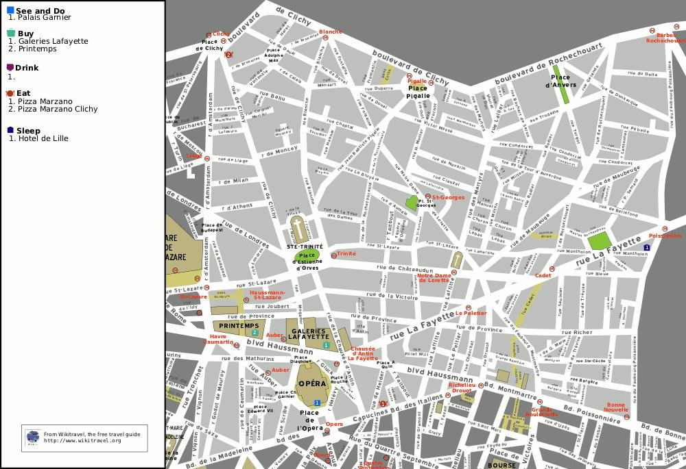 Opera Paris Map Kartta Opera Pariisi Ile De France Ranska