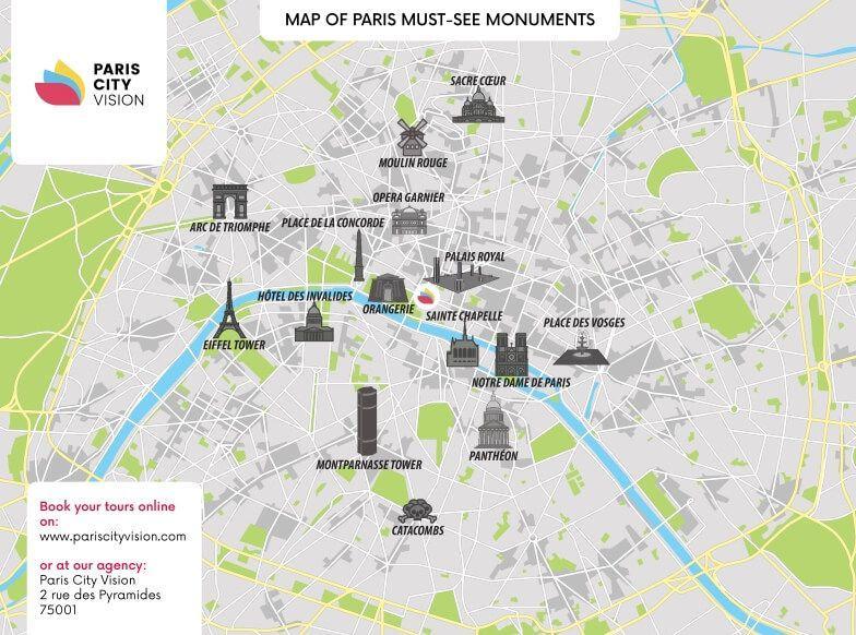 Pariisin museot kartta