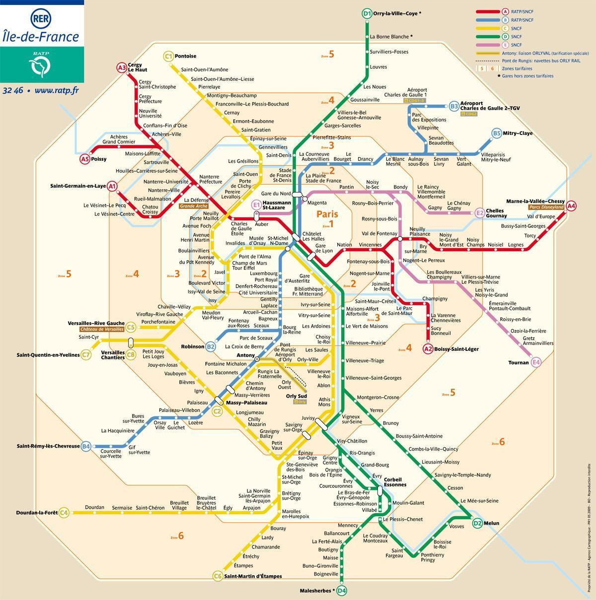 Pariisin Metro Zone Kartta Pariisi Alue Kartta Metro Ile De