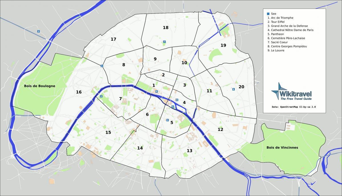 Paris Park Kartta Pariisin Puistot Kartta Ile De France Ranska