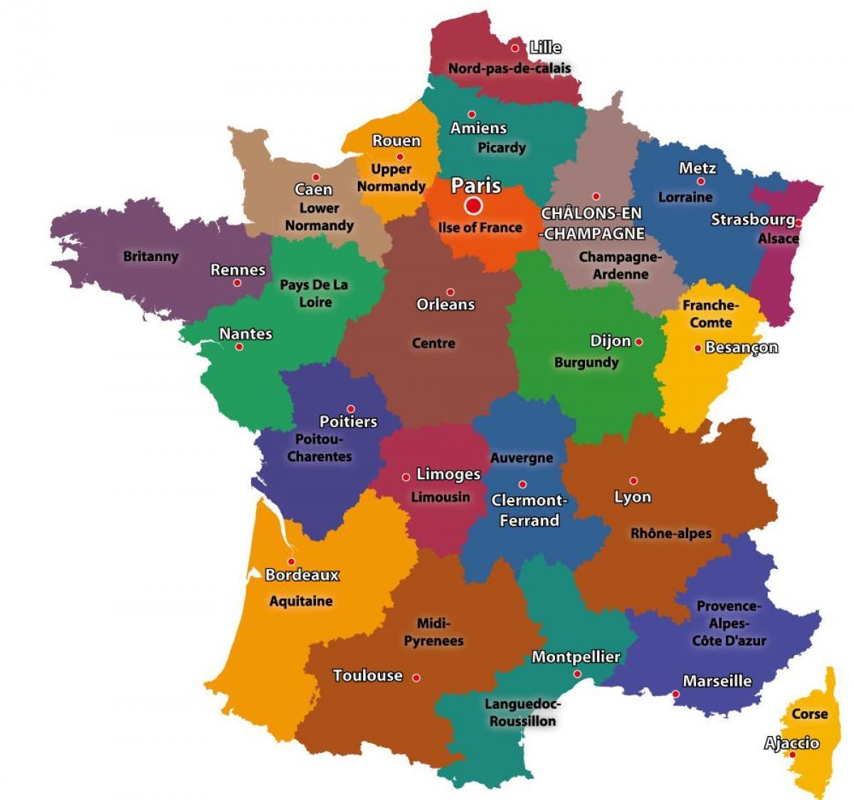 Ranskan Kartta Osoittaa Paris Kartta Ranska Ja Pariisi Ile De
